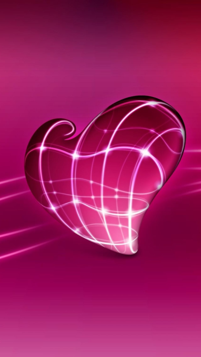 3d pink heart the iphone wallpapers for Pink 3d wallpaper