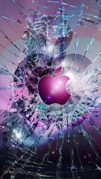 Apple Logo Broken Glass
