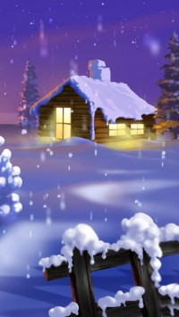 Classic Winter Scene Painting