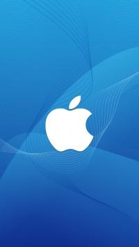 Apple Logo In Wave