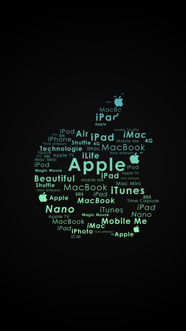 The Iphone Wallpapers Apple Logo Typography