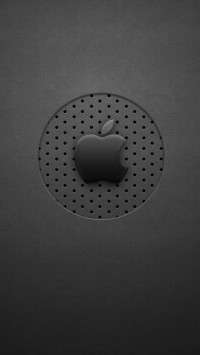 Black Dots Apple Logo