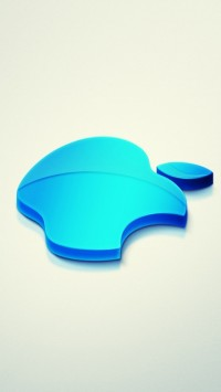 Blue 3D Apple Logo