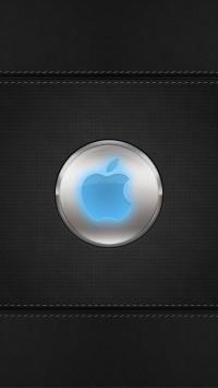 Blue Glow Apple Logo
