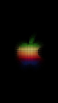 Colorful Dots Apple Logo