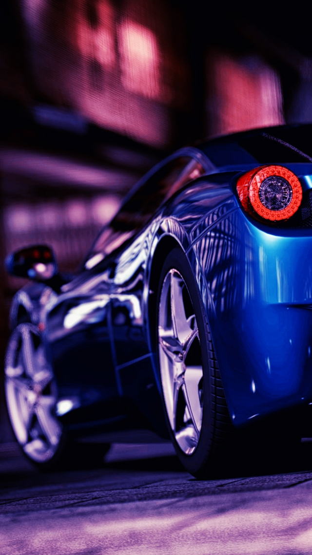 Ferrari 458 Rear The iPhone Wallpapers