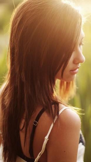 Girl in Morning Sunrise