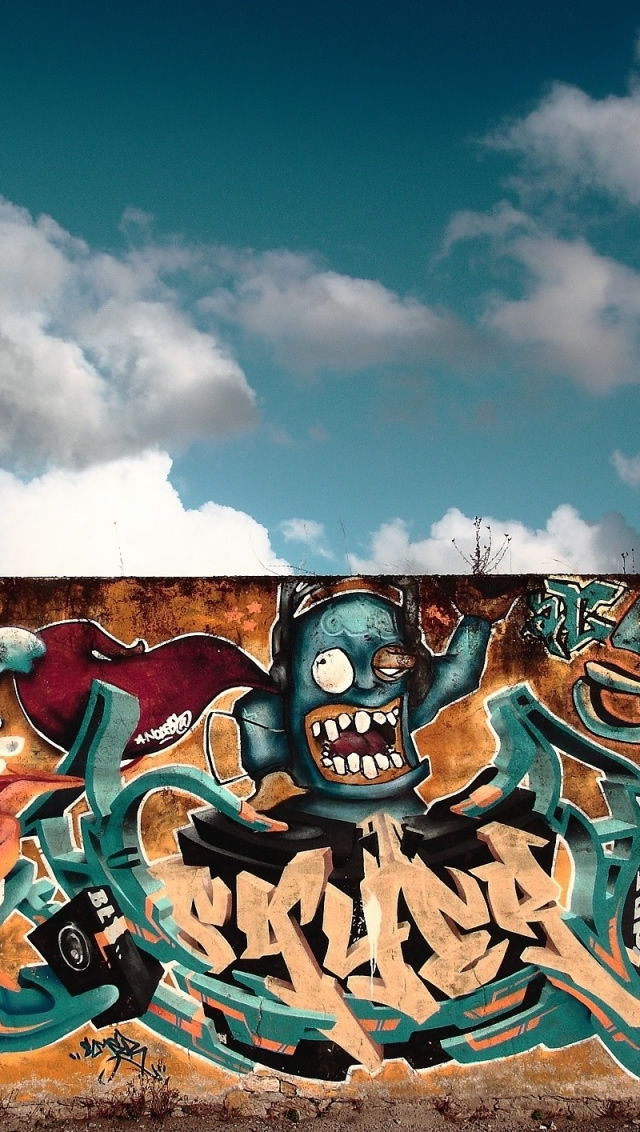 Graffiti Wall Art - The iPhone Wallpapers