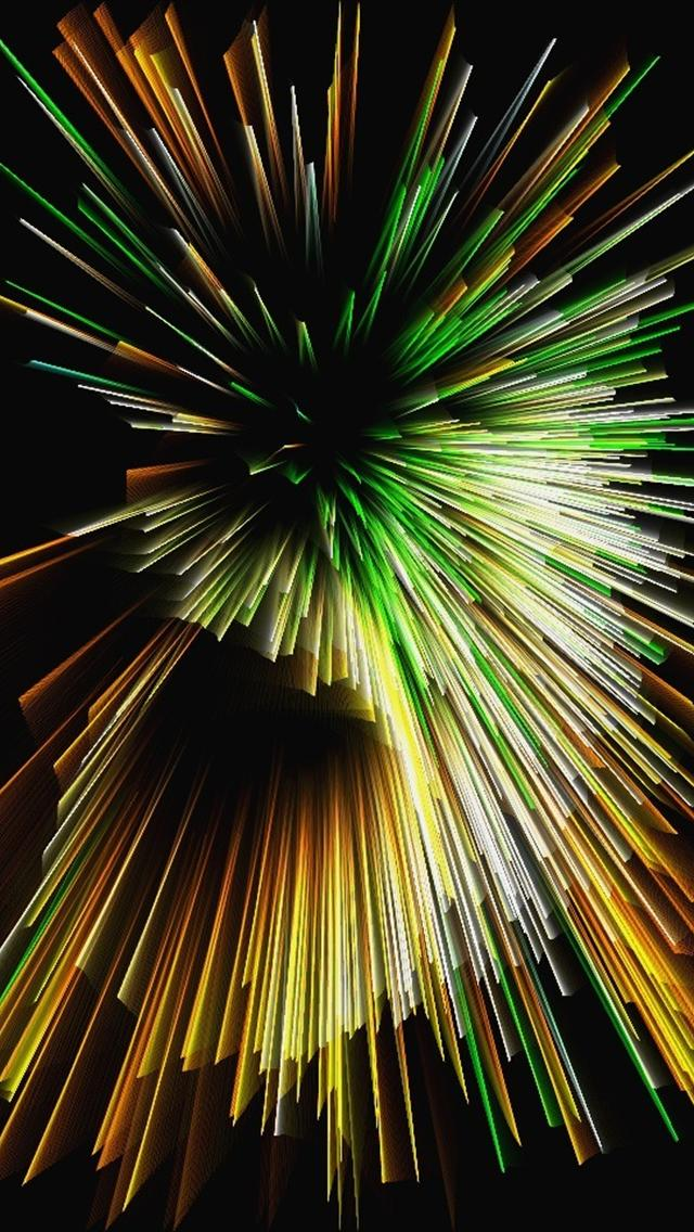 Green Fireworks - The iPhone Wallpapers