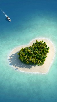 Heart shaped at sea