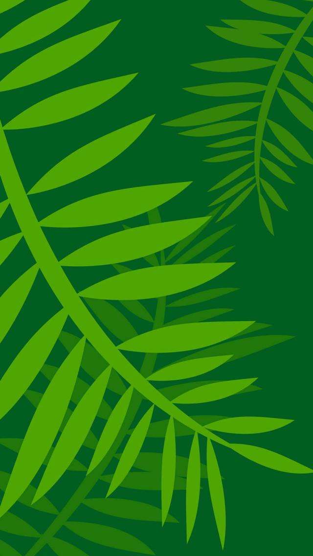 The Iphone Wallpapers Jungle Leaves Vector Art