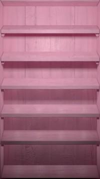 Pink Wood Shelves
