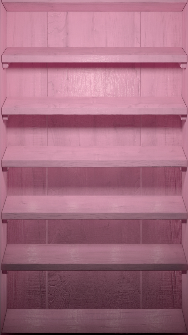 IPhone Wallpaper Tags DockPinkShelvesWood Pink Wood Shelves