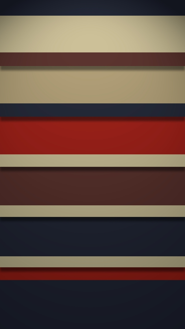 Retro Stripy Shelves - The iPhone Wallpapers