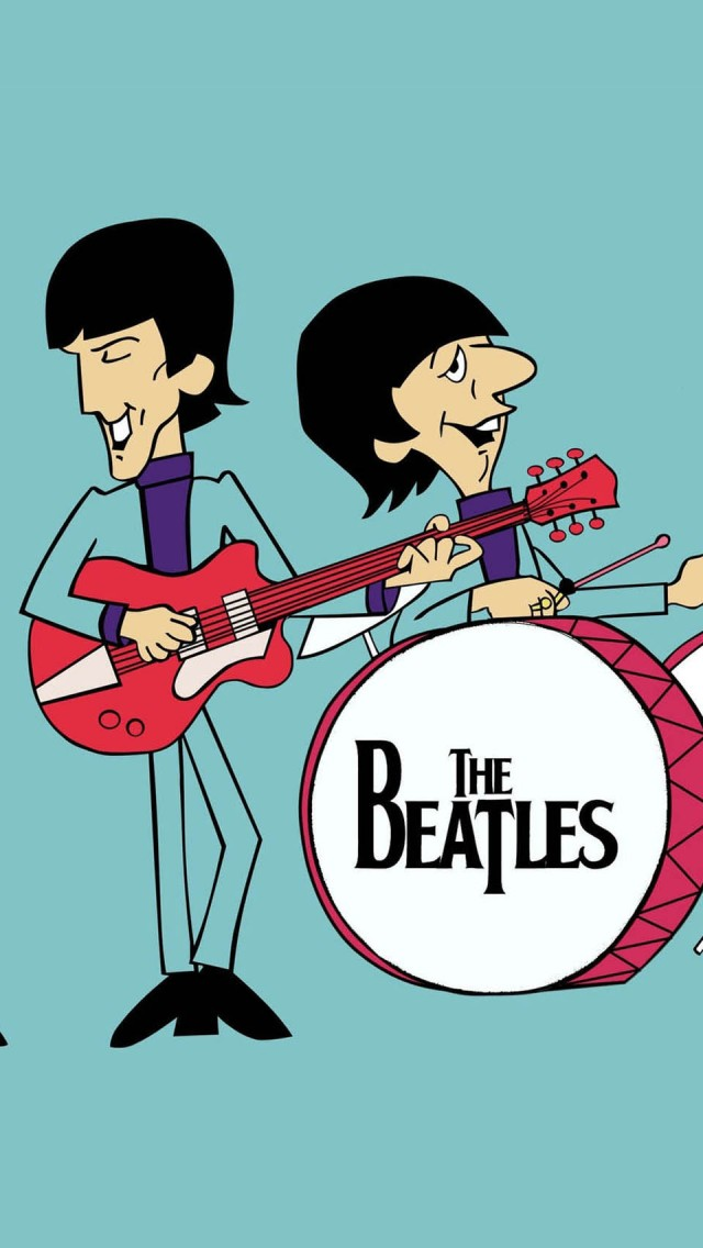 The Beatles Cartoon The Iphone Wallpapers