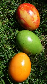 Three Easter Green Eggs