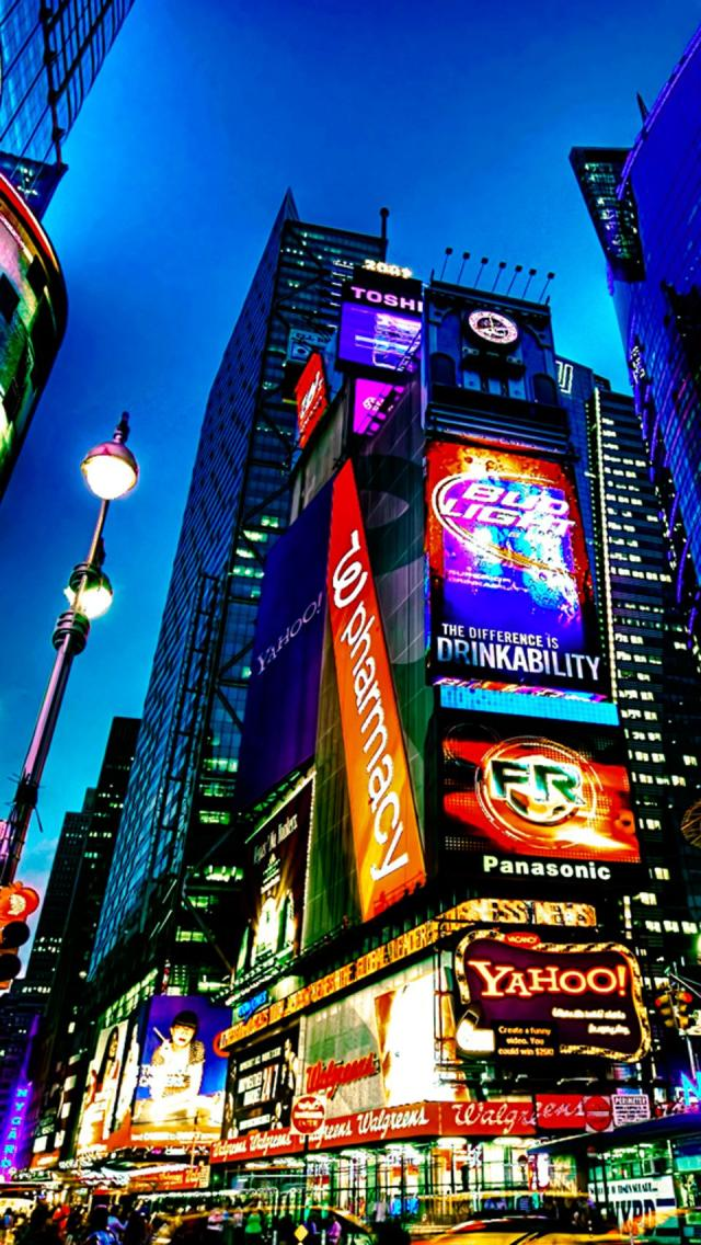The Iphone Wallpapers Times Square New York City