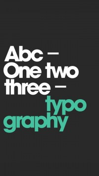 ABC 123 Typography