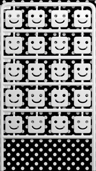 Black And White Dot Smiley