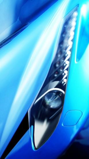 Blue Ferrari 458 Headlight