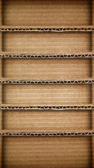 Brown Cardboard Shelf