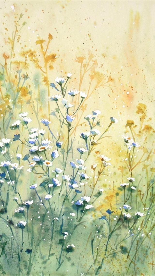 flower painting watercolor wallpaper - photo #35