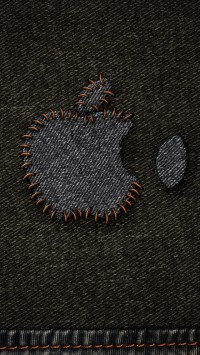 Jeans Apple Logo