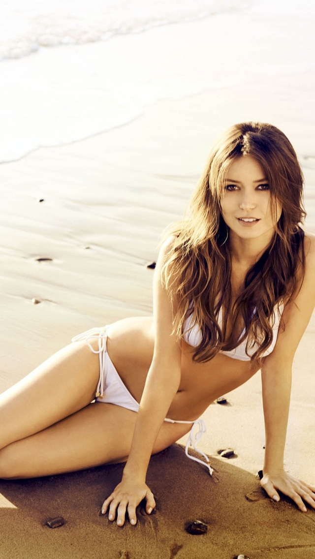 pretty bikini girl at beach