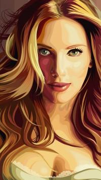Scarlett Johansson Vector Art