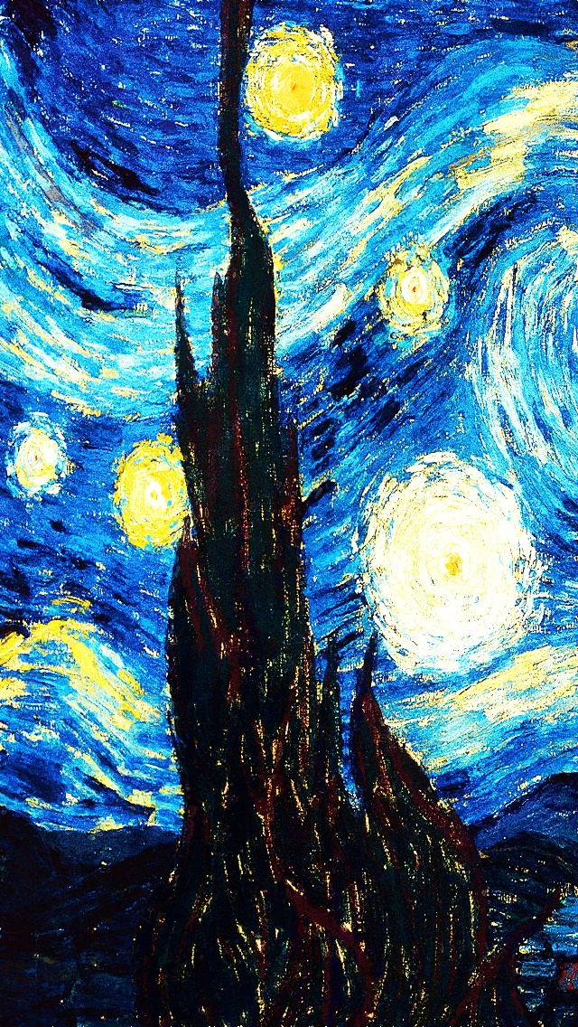 starry night the iphone wallpapers