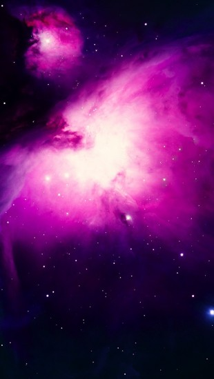 Stars on Purple Space
