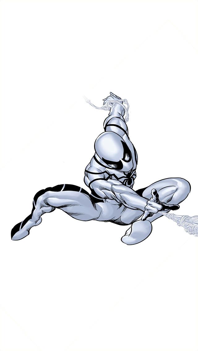 Superhero Spider-Man White Comics