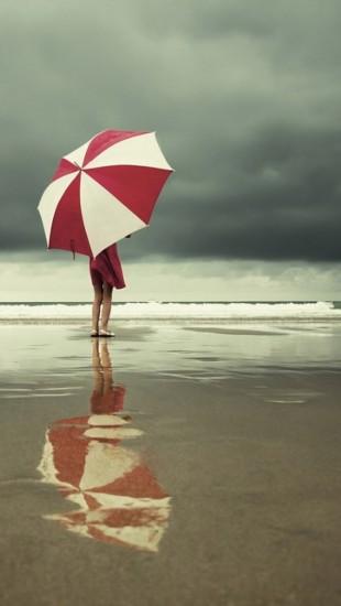 Umbrella Goes To The Beach