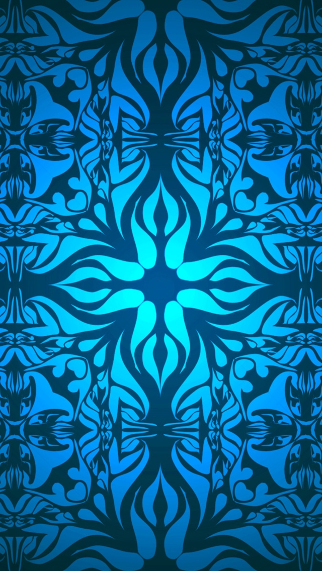 Blue pattern wallpaper for iphone - photo#17