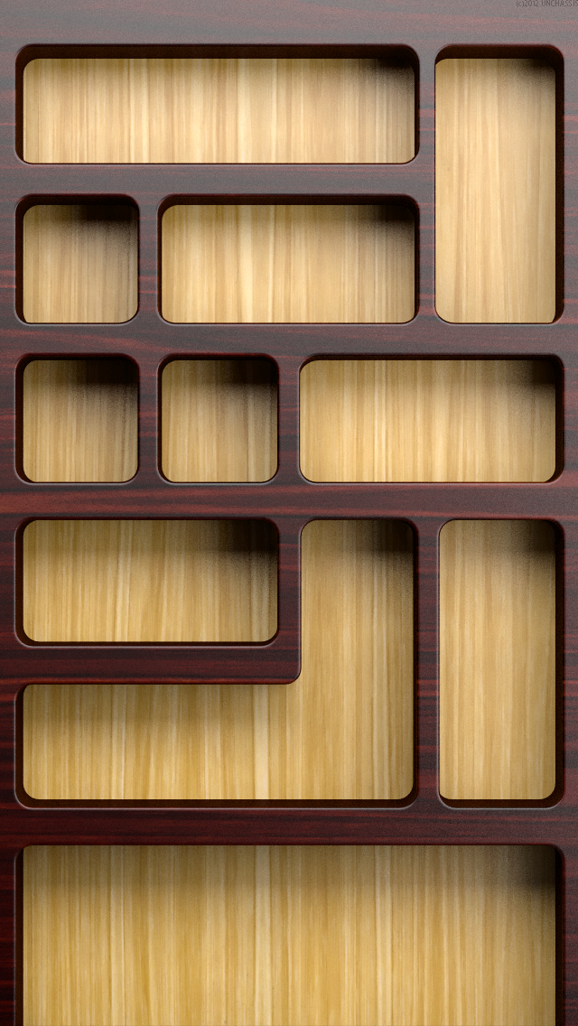iPhone Wallpapers the Wood Bookshelves