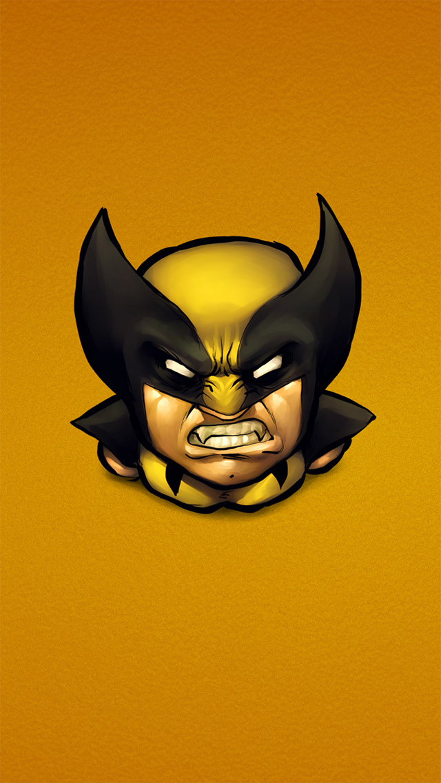 x men wolverine yellow the iphone wallpapers