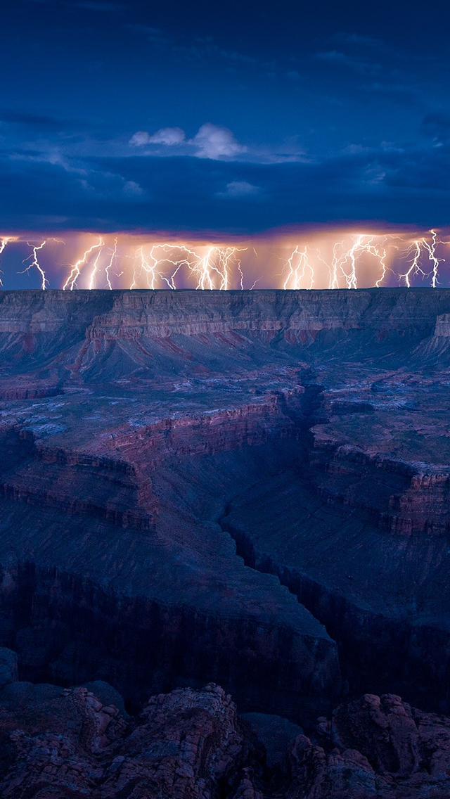 Grand Canyon Lightning The Iphone Wallpapers