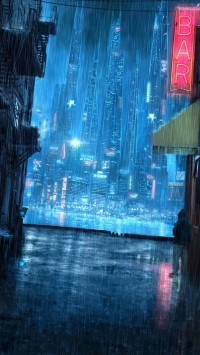 Rainy Night Street