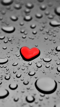 Red Drop Heart