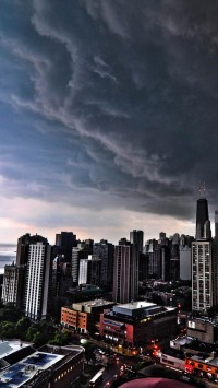 Storm Clouds Over Chicago