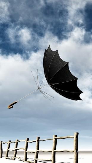 Wind Blown Umbrella