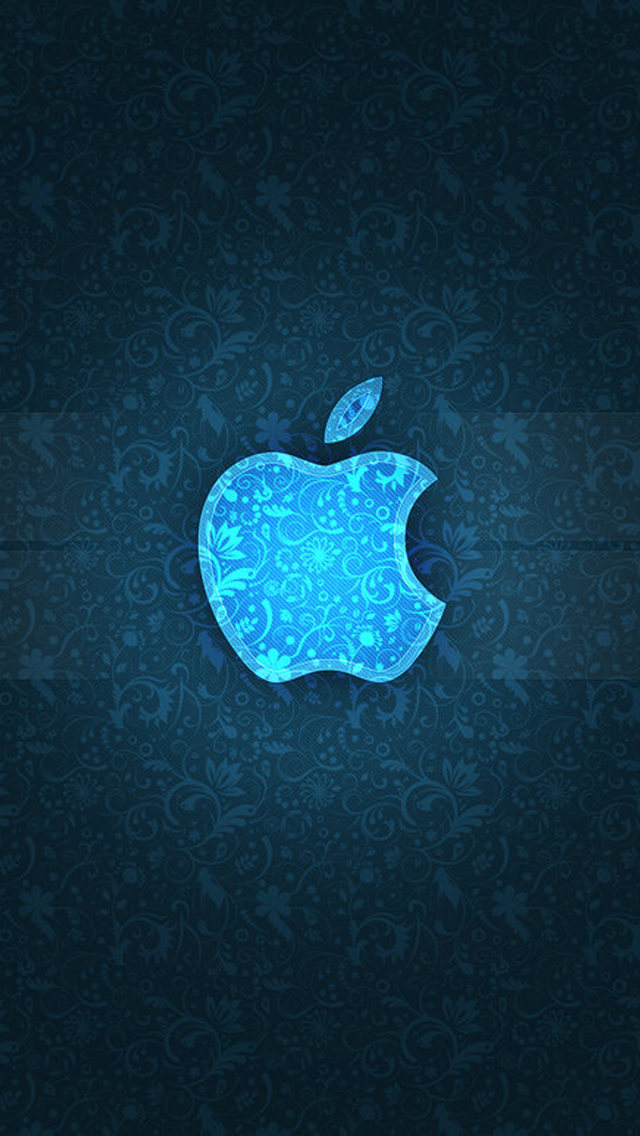 blue texture apple logo the iphone wallpapers