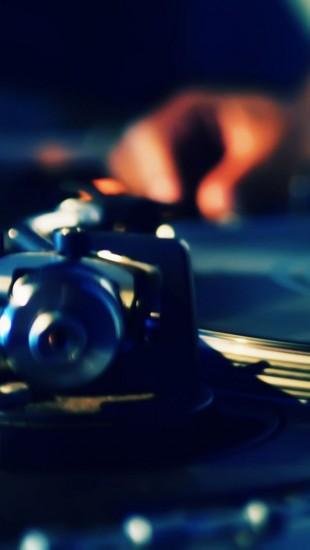 DJ Turntables Plate Hands Music
