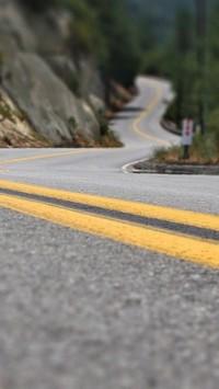 Road Line Asphalt