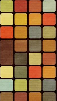Rubiks Cube Squares Retro