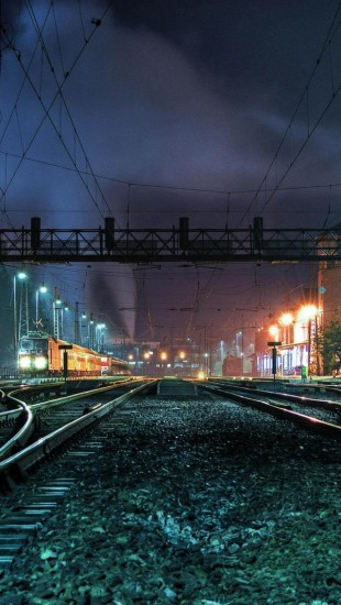 Train Station At Night