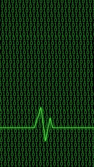 Binary Code With Heartbeat