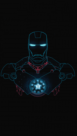 Iron man glow the iphone wallpapers - Iron man heart wallpaper ...