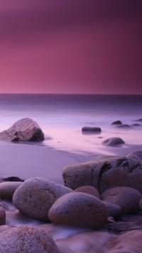 Pink Haze and Stones