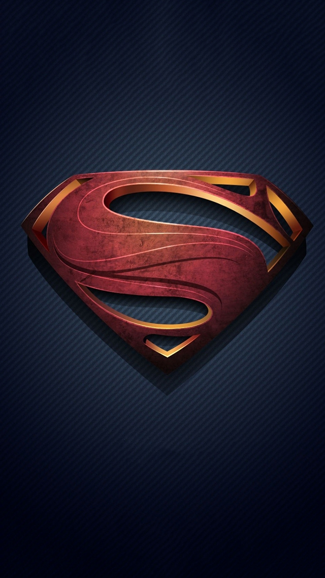 Man of Steel Logo iPhone Wallpaper